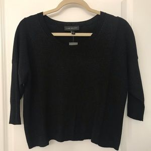 NWT Lane Bryant black sparkle crop top